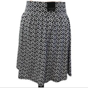 Lane Bryant Black and White Patterned Knit Skirt